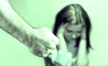 child and male fist for early childhood trauma