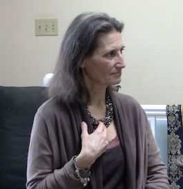 Lynn Himmelman showing thymus muscular-kinesiology chakra energy point for healing and will to live with NDT