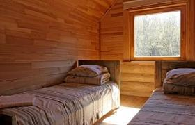 Wooden house bedroom