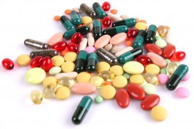 Big Pharma symbol: drugs, pills, tablets