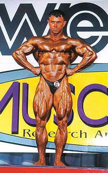 Bodybuilder Sergey Dmitriev