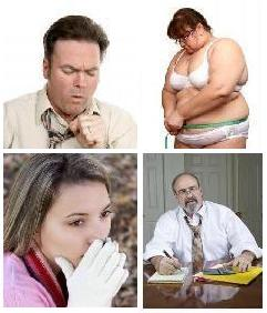 Sick people with constant inflammation