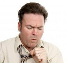 Man with abnormal respiratory - coughing