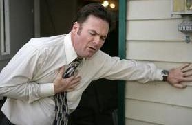 A man with myocardial infarction