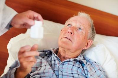 Old man gets medication