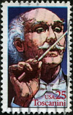 Stamp with Arturo Toscanini