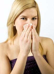 Woman with how to get rid of stuffy nose
