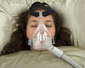 Woman - Sleep Apnea, Hypercapnia: breathing with CPAP
